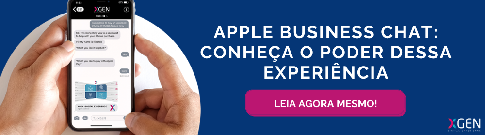 Realidade aumentada - Apple Business Chat