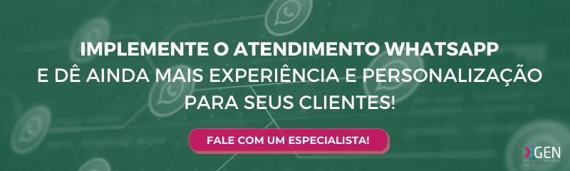 Atendimento whatsapp - Fale com especialista!
