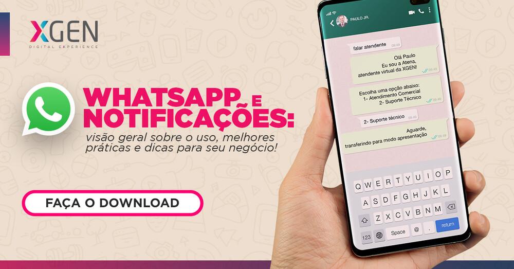 Notificações e botões no whatsapp